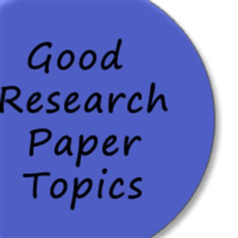 Research paper topics and